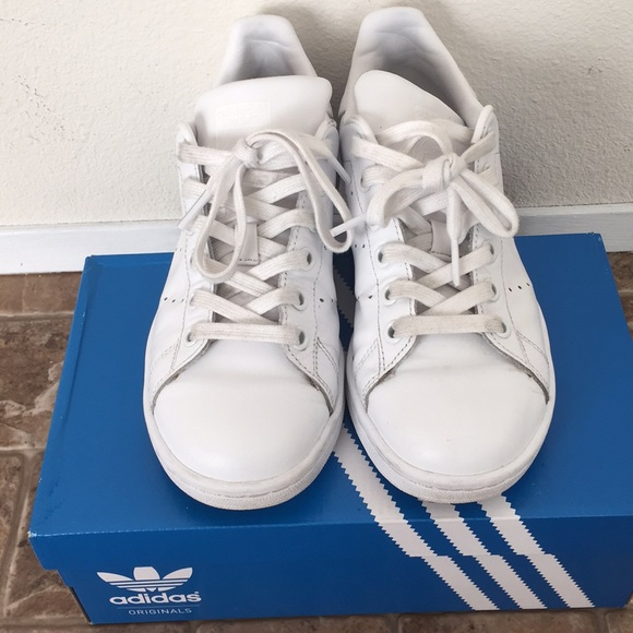 0129357a3ece4 Pre-loved Adidas All White Stan Smith
